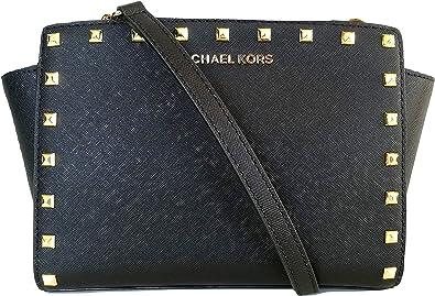Michael Kors Selma Sac à main clouté - Noir - Noir, Medium: Amazon ...