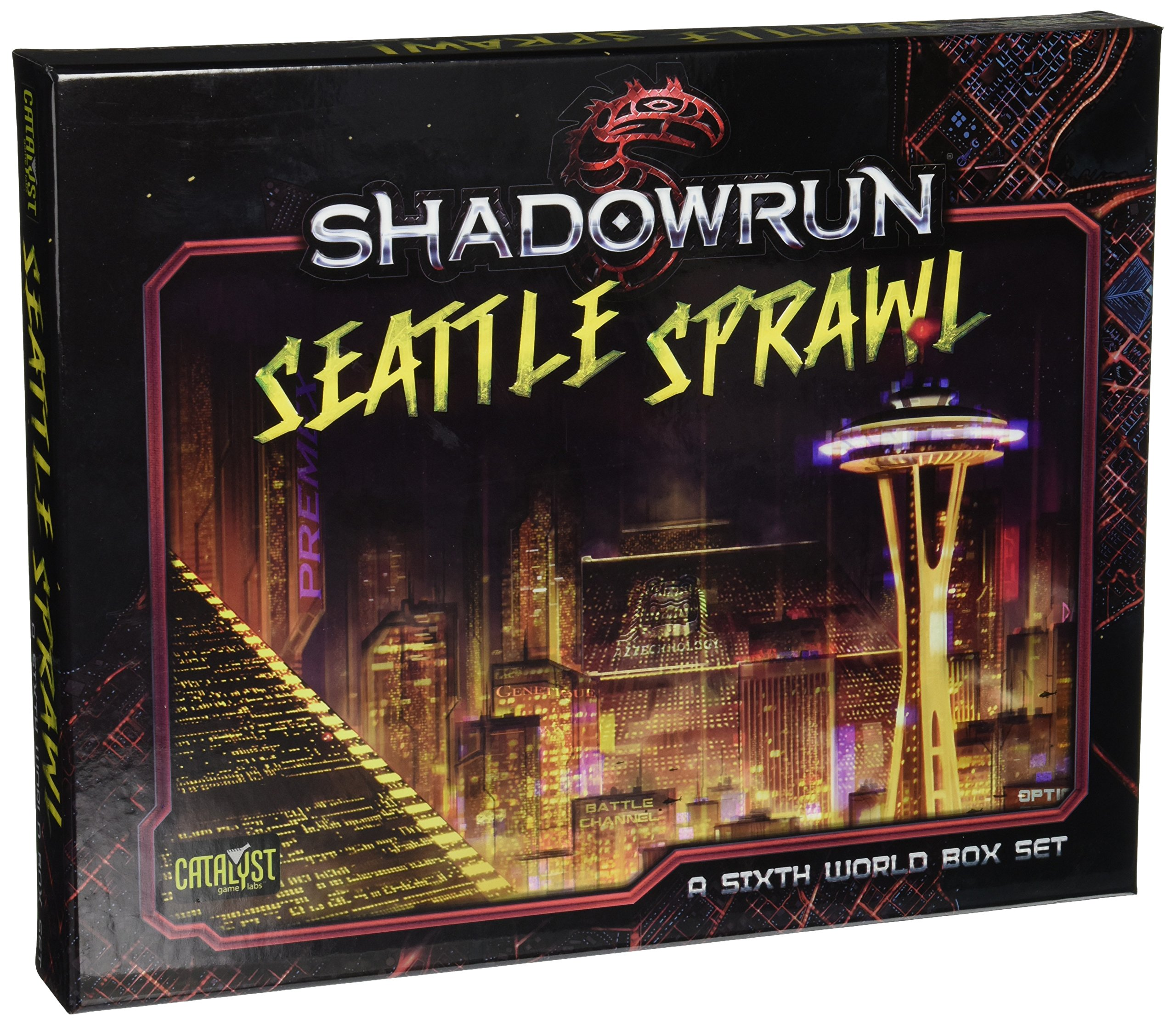 Shadowrun America Map.Shadowrun Seattle Box Set 9781941582930 Amazon Com Books