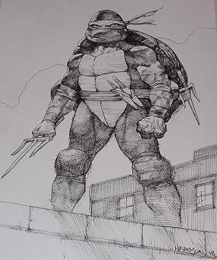 Amazon.com: Paul Harmon Hand Signed TMNT Original Comic Art ...
