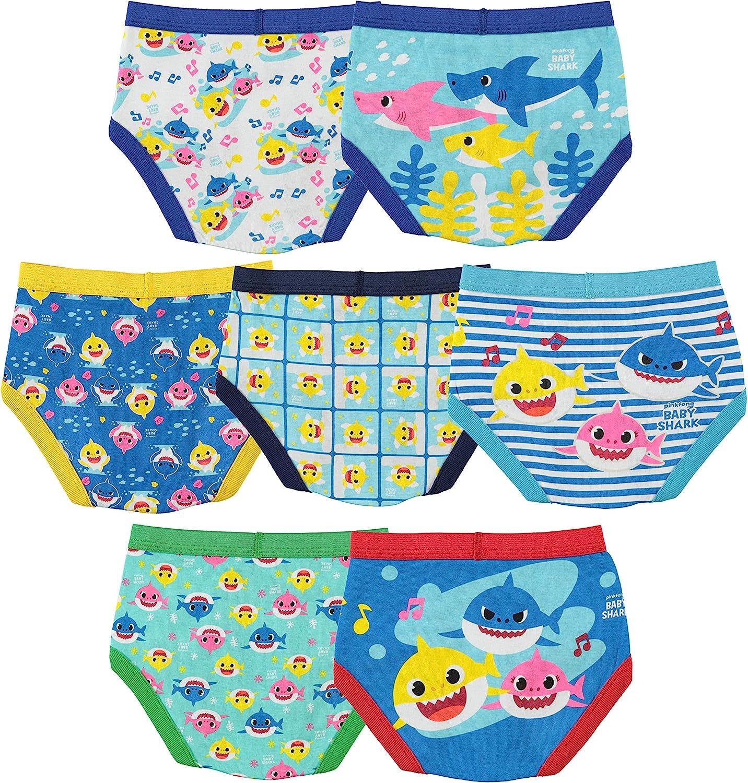 Baby Shark Boys' Toddler 7pk Briefs