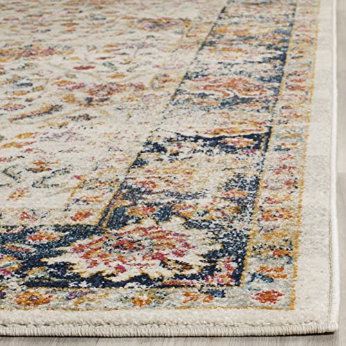 Safavieh Madison Collection MAD609D Oriental Boho Chic Distressed Non-Shedding Stain Resistant Living Room Bedroom Area Rug