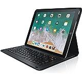 CSL - iPad Pro 12,9 Zoll Tastatur inkl. Kunstledercase | Schutzhülle / Tasche / Cover / Case | Lightweight Design | Multimedia-Funktionstasten | QWERTZ-Layout (Deutsch) | Magnetische Befestigung