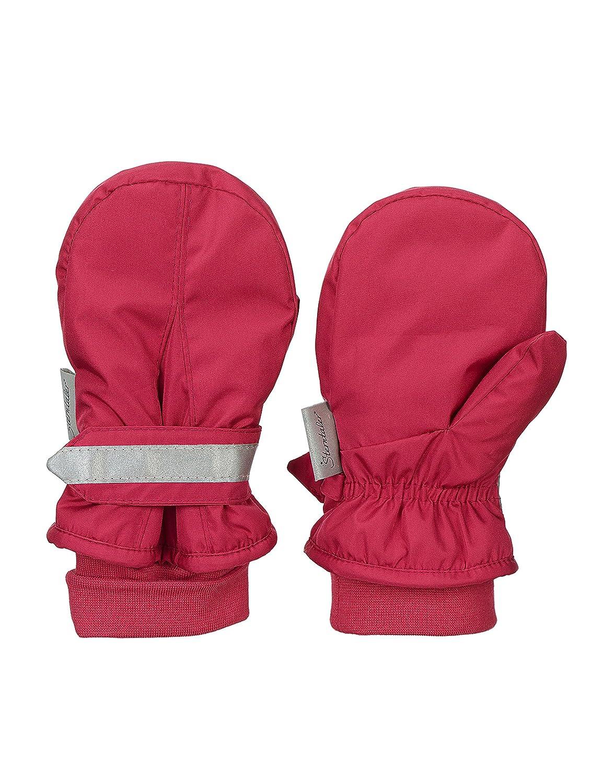 Handschuhe Sterntaler F/äustel f/ür Kinder Wasserabweisend und reflektierend Rot