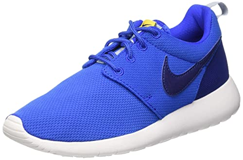5969fb0fb46fe2 Nike Youth Roshe One (Hyper Cobalt Deep Royal Blue Varsity Maize)(