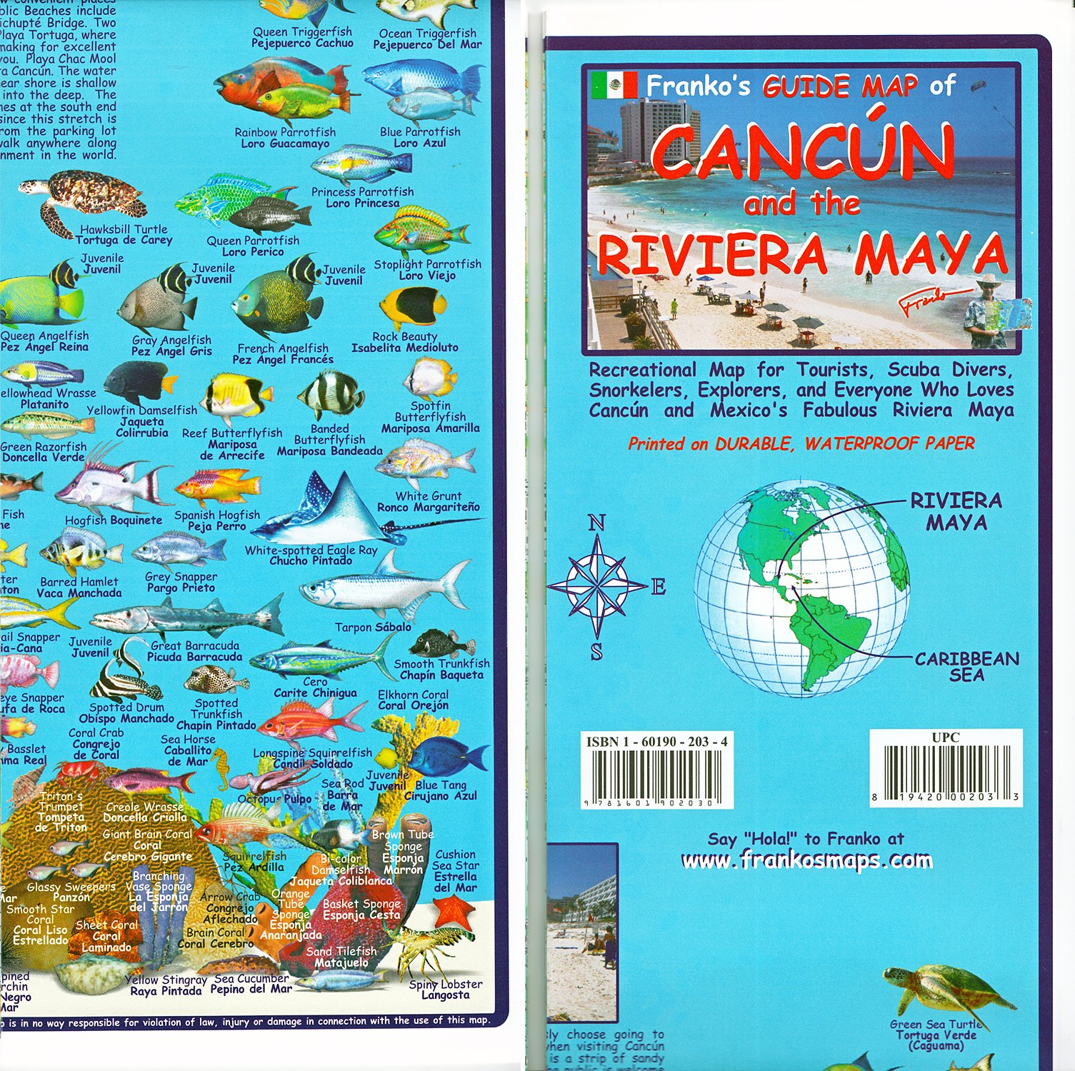 Franko\'s Guide Map of Cancun and the Riviera Maya (English and ...