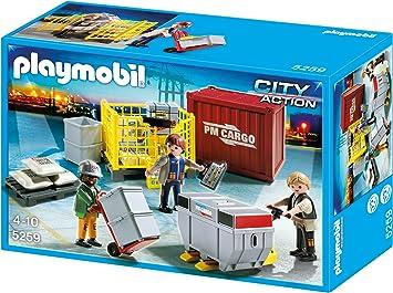PLAYMOBIL - Equipo de Carga de mercancías, Set de Juego (5259): Amazon.es: Juguetes y juegos