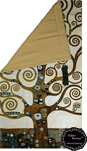 Fabric Bureau The Tree of Life by Klimt 31W x55 L Fine Art Wall Hanging Tapestry Ship from US