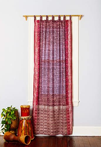 Colorful Window Treatment Draperies Indian Sari Panel 108 96 84 inch Curtain
