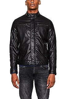 Noir Biker Homme Im Stil Regular black Esprit Blouson Fit 4Sxwp
