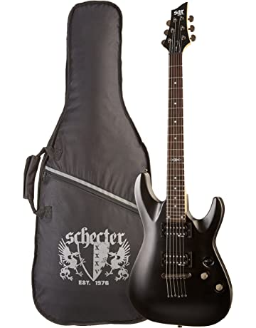 SGR by Schecter C-1 3801 - Guitarra eléctrica, color midnight satin black