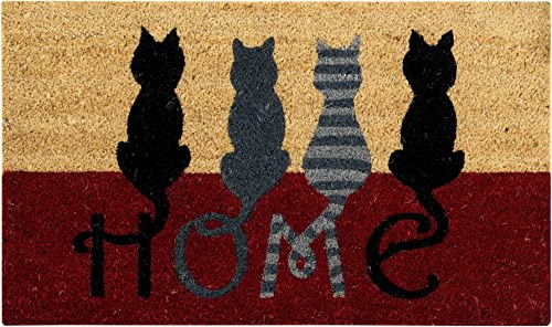 Better Trends Cat Home Coir Door Mat