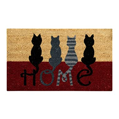 Better Trends/ Pan Overseas FWAN1225 Cat Home Coir Door Mat