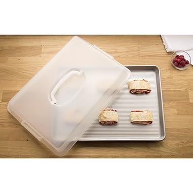 USA Pan 1050HSLD-ST Bakeware Nonstick Half Sheet Pan, Lid