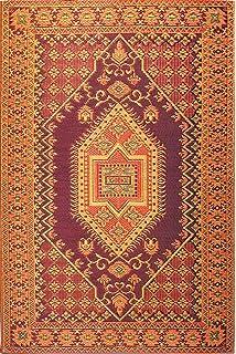 Mad Mats/® Serape Indoor//Outdoor Floor Mat 4 by 6-Feet Dark Red