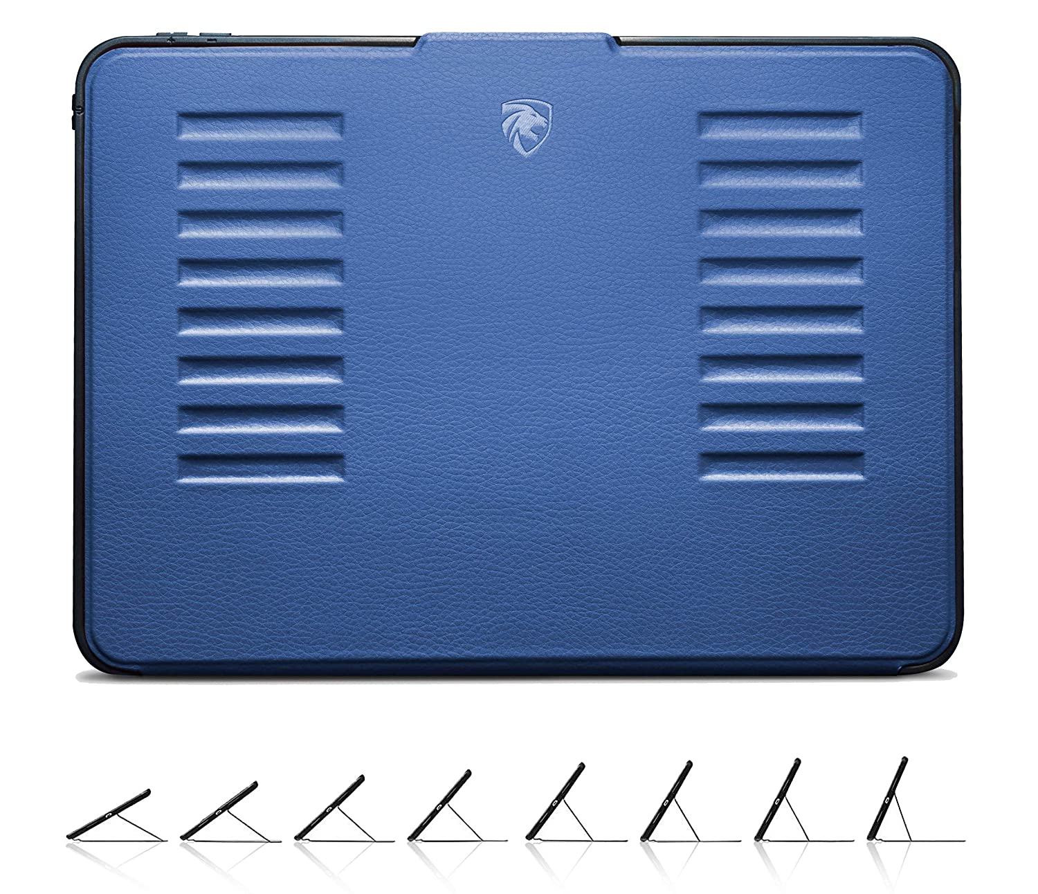 ZUGU CASE - iPad 10.2 Case - Very Protective But Thin + Convenient Magnetic Stand + Sleep/Wake Cover (Navy Blue)