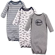 Hudson Baby Baby Cotton Gowns, Aviator, 0-6 Months