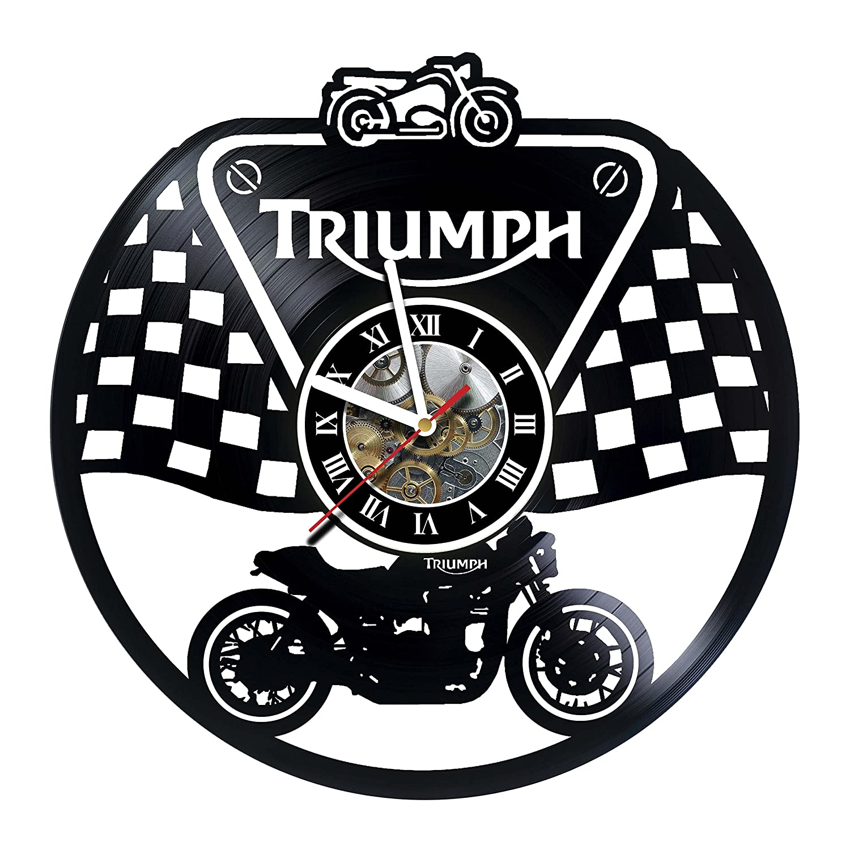 Triumph – Motorcycle Motorcycle B07CTMG3FC – – ビニールレコード壁時計 – ハンドメイドアートワークUniqueホーム寝室リビング子供部屋子供部屋壁装飾Great贈り物Idea誕生日、結婚式、記念日 – カスタマイズYourクロック B07CTMG3FC, 半田素麺の瀧原製麺:8498952d --- ijpba.info
