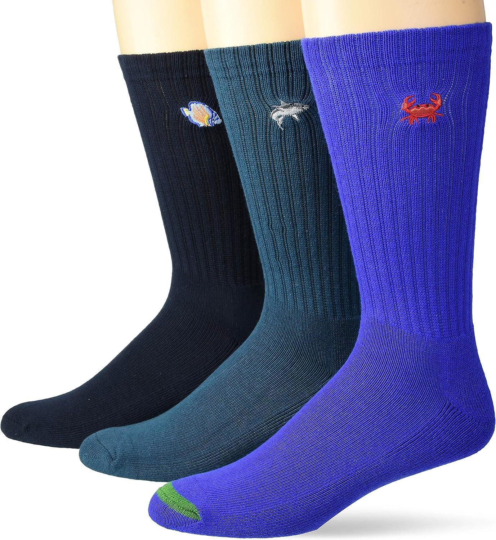 Amazon Brand - Goodthreads Men's 3-Pack Ribbed Crew Sock