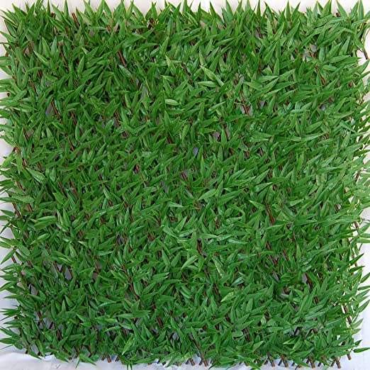 Tenax - Seto Artificial con Hojas entrelazadas Extensibles de Sauce, Divy 3D X-Tens Bamboo, 1 x 2 m, Verde: Amazon.es: Jardín
