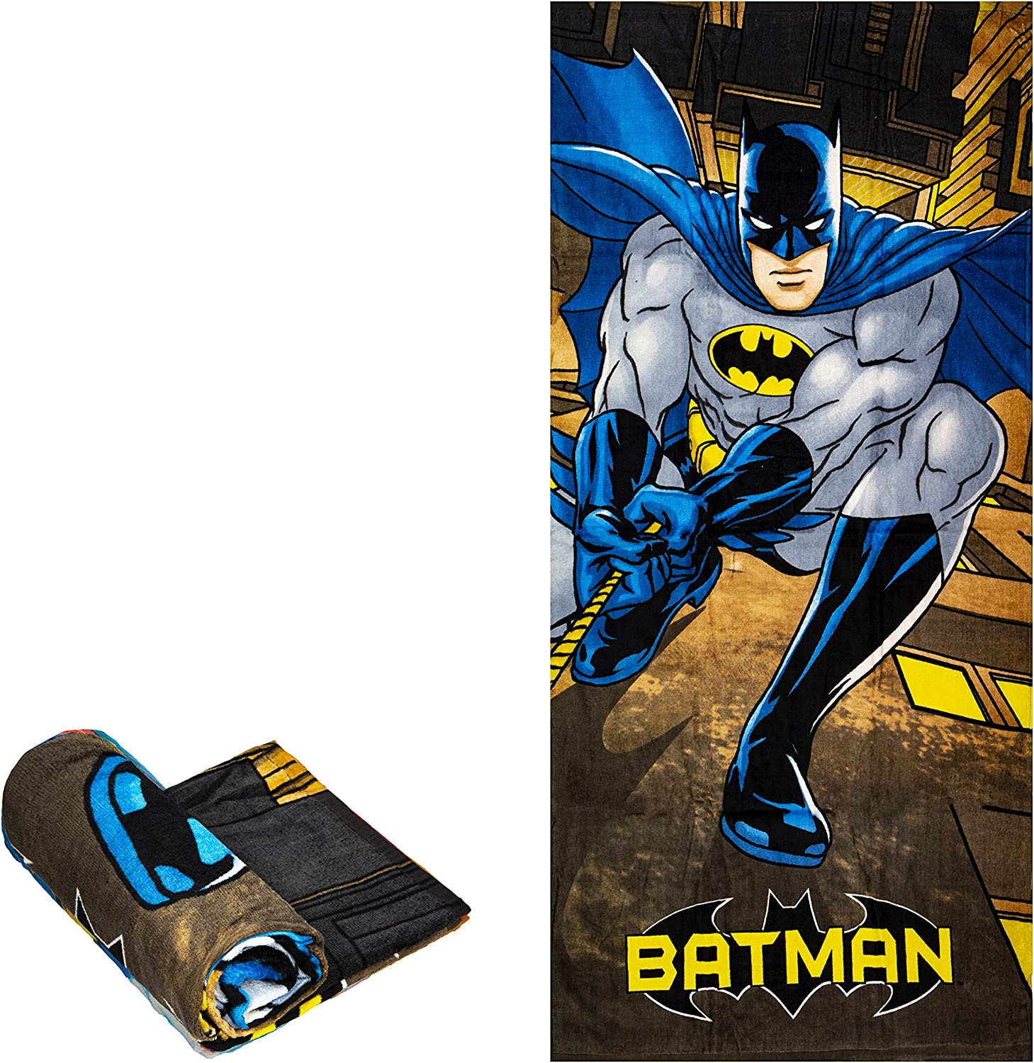Beach Towel - Batman Climbing - Beach Towel Oversized 60