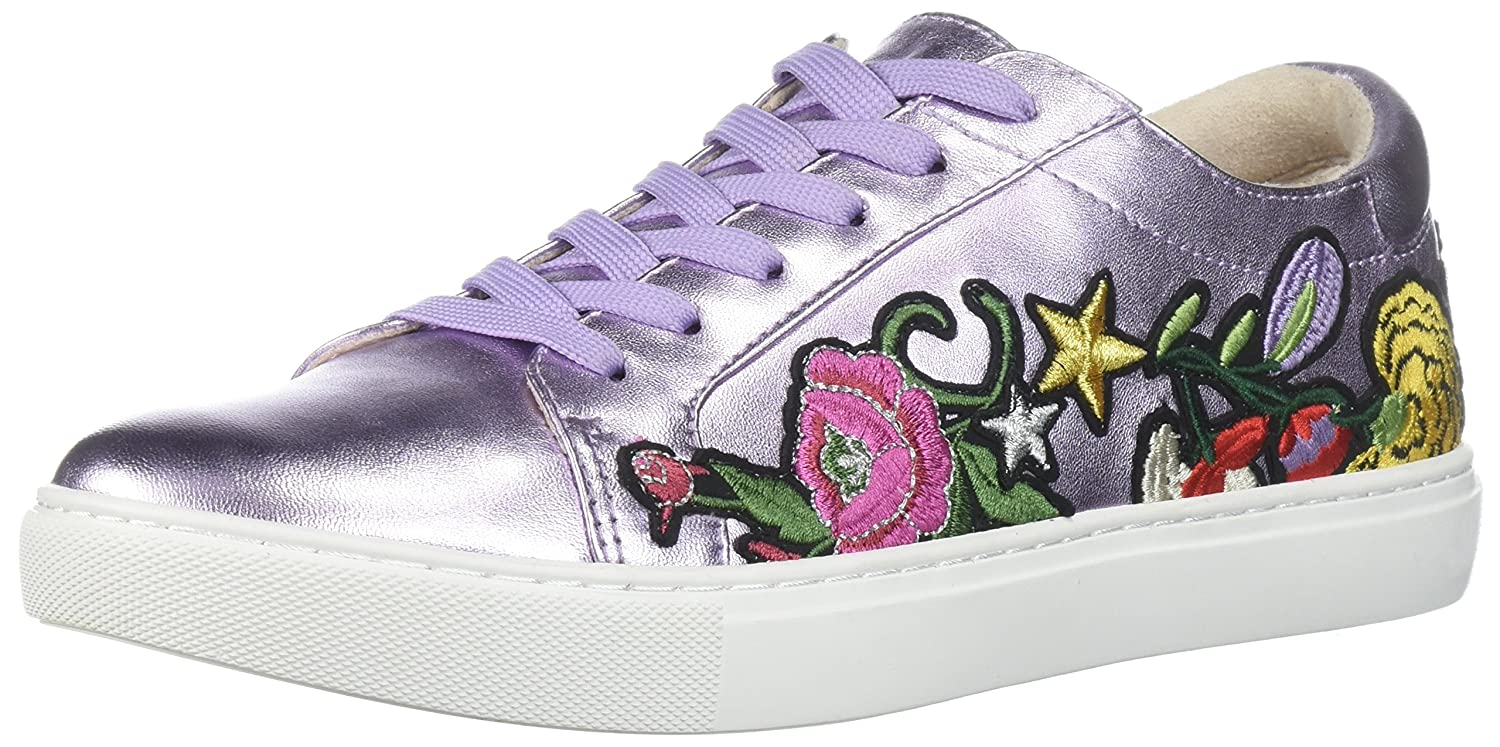 Kenneth Cole New York Women's Kam 10 Floral Embroidered Lace-up Sneaker B078DDZL5V 7.5 M US|Lavender