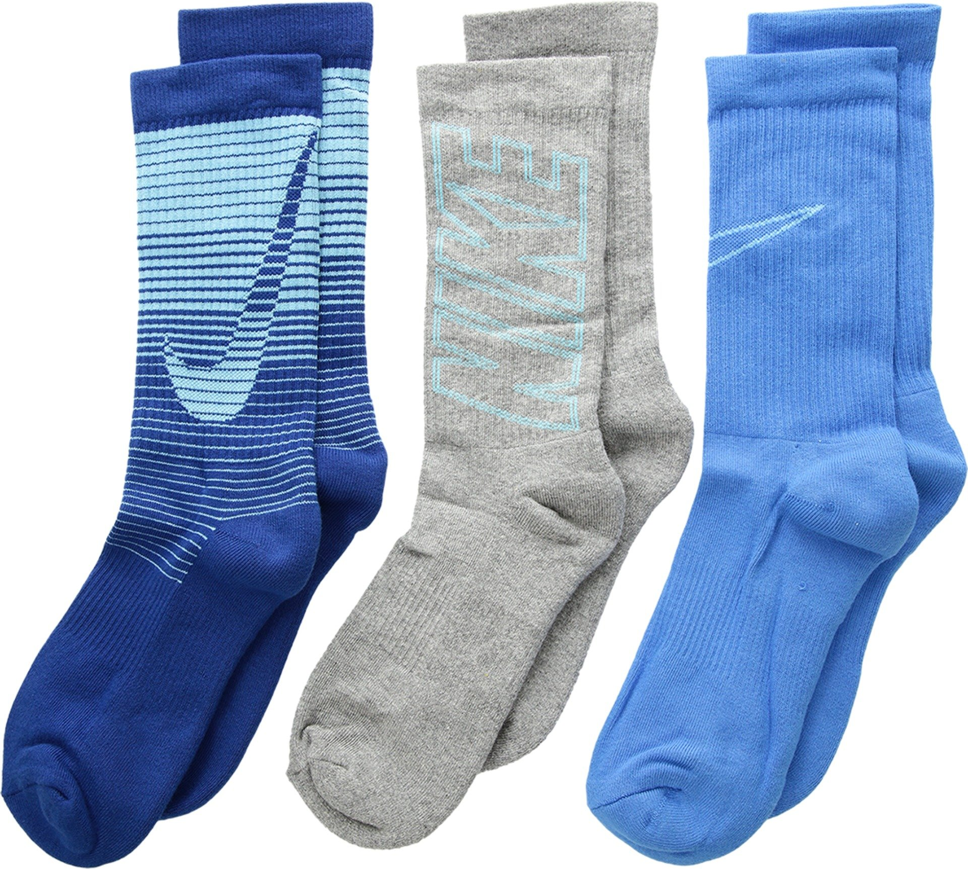 Nike 3 Pack Performance Cushion Socks- Boys' Young Athletes 3Y-5Y/7-9 (Sock Size)