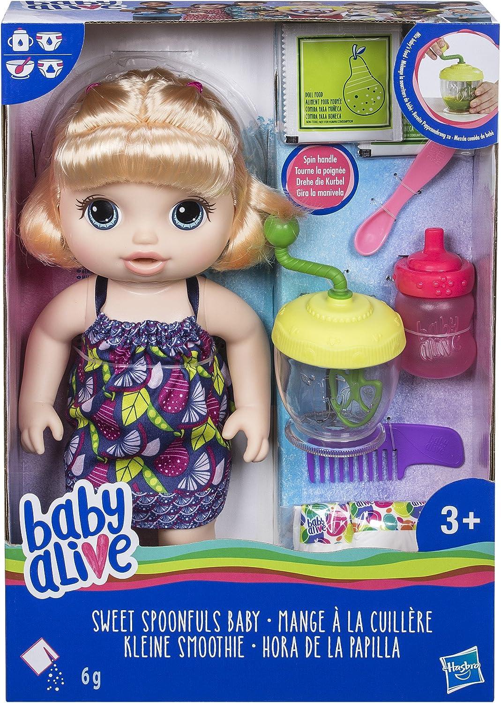 Amazon.es: Baby Alive Sweet Spoonfuls - Muñeca Rubia: Juguetes y ...