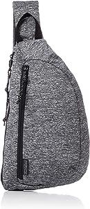 JanSport City Sling Crossbody Bag - Versatile Backpack, Ideal Travel & Day Pack, Black Woven Knit