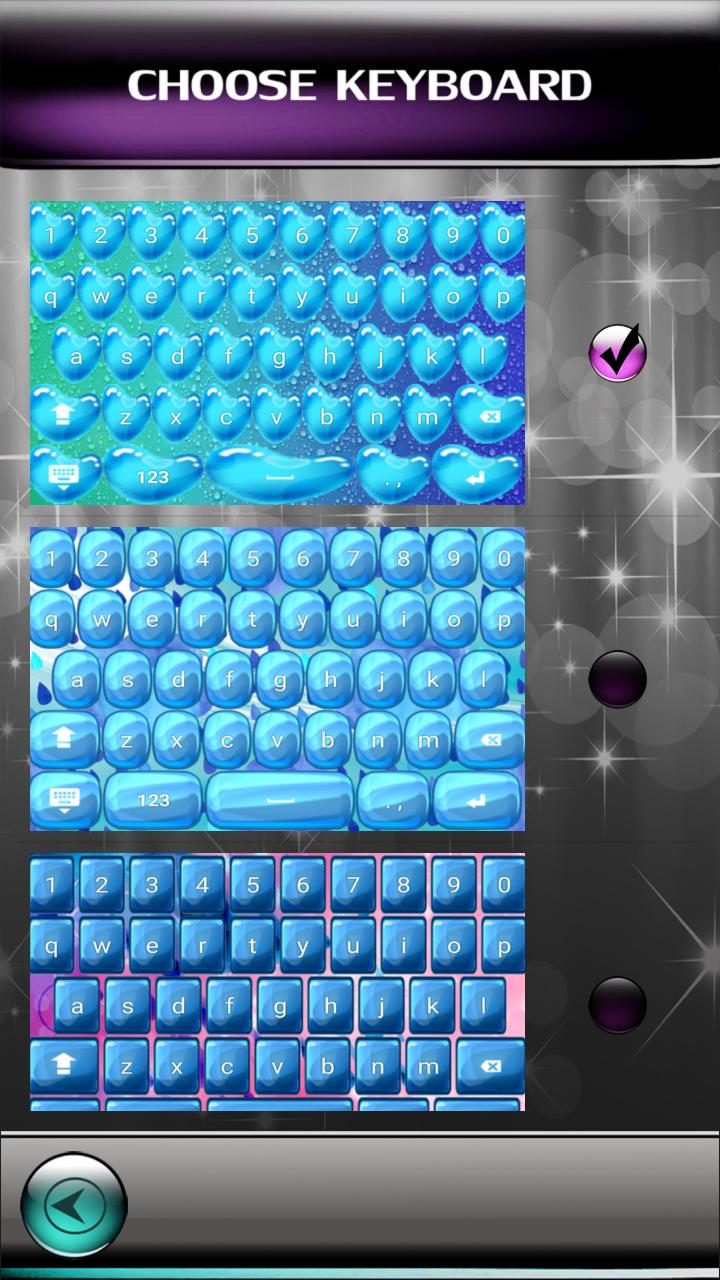 Gotas de agua teclados
