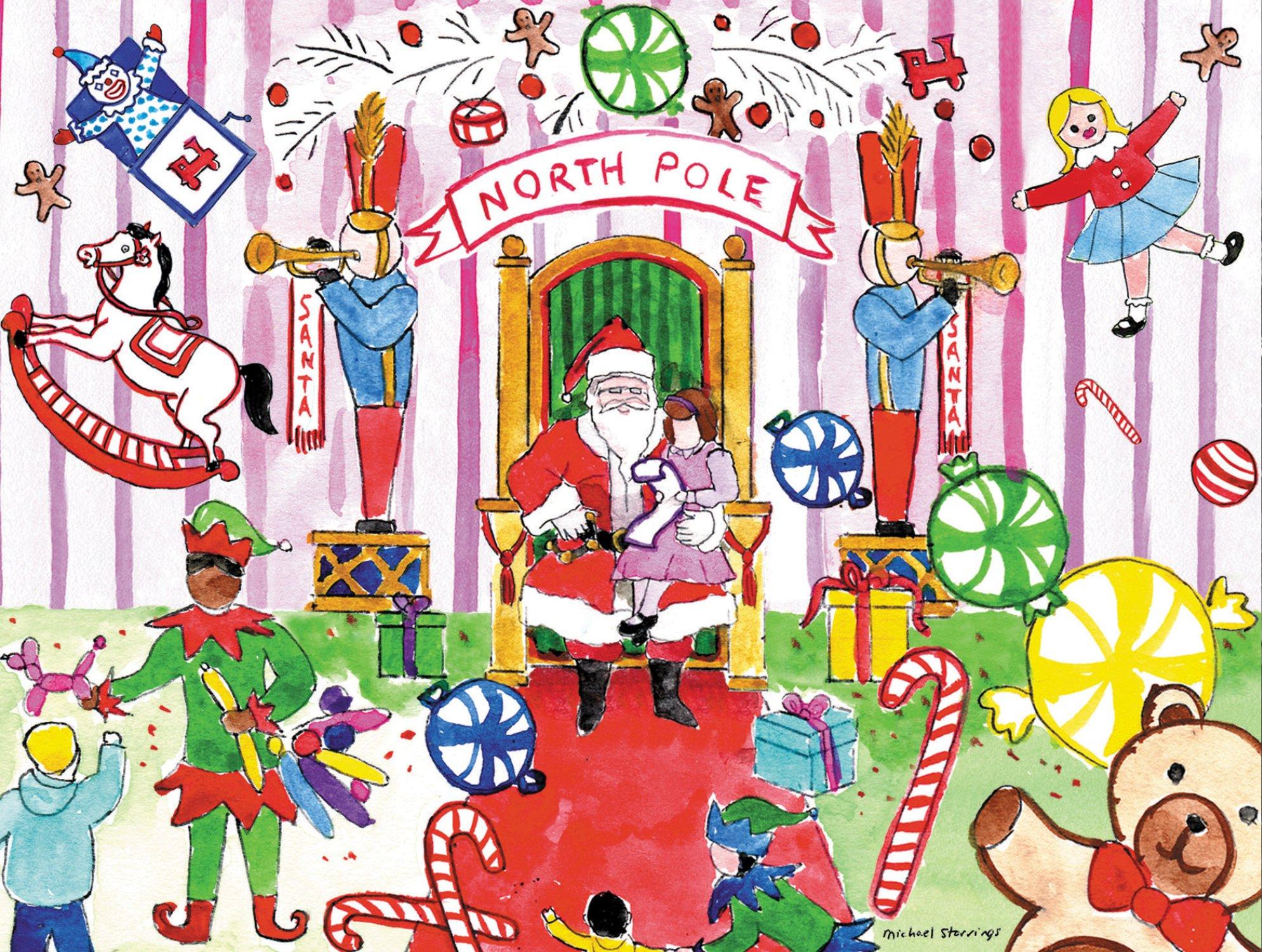 Download Michael Storrings Visit To Santa Boxed Holiday Full Notecards (Christmas Full Note Box Notecard) PDF