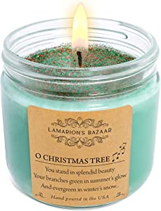 Lamarion's Bazaar O Christmas Tree - Fraser Fir Scent- Large Soy Candle in a Kraft Box