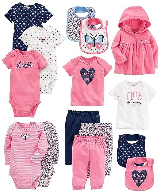 Carter s Baby - Set básico para niña (15 Piezas)  Amazon.com.mx ... b39cb8c5fb47
