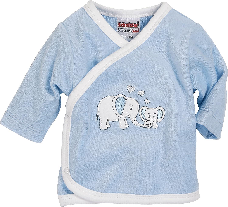 Schnizler Unisex Baby Hemd Wickelshirt, Flügelhemd, Erstlingshemd Nicki Langarm, Oeko Tex Standard 100 Flügelhemd Playshoes GmbH 800251
