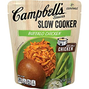 Campbell's Slow Cooker Sauces Buffalo Chicken, 12 oz. Pouch (Pack of 6)
