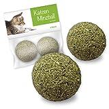 Katzenminze Ball Katzenspielzeug 2 Stück von Forck, unsere Spielbälle bestehen zu 100% aus Katzenminze, fördern den natürlichen Spieltrieb und helfen Katzen zu entspannen, für Katzen jeden Alters