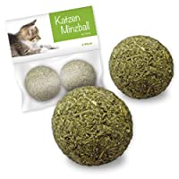 Forck Katzenminze-Ball Katzenspielzeug 2 Stück, unsere Minze-Bälle Bestehen zu 100% aus natürlichem Catnip | Beschäftigung & Spiel für Katzen