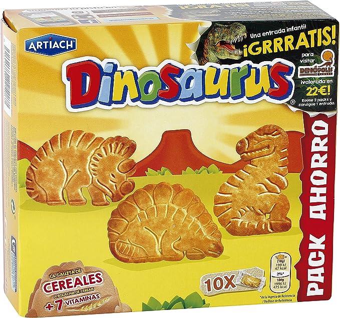 ARTIACH Dinosaurus galletas de cereales con vitaminas caja 411 gr ...