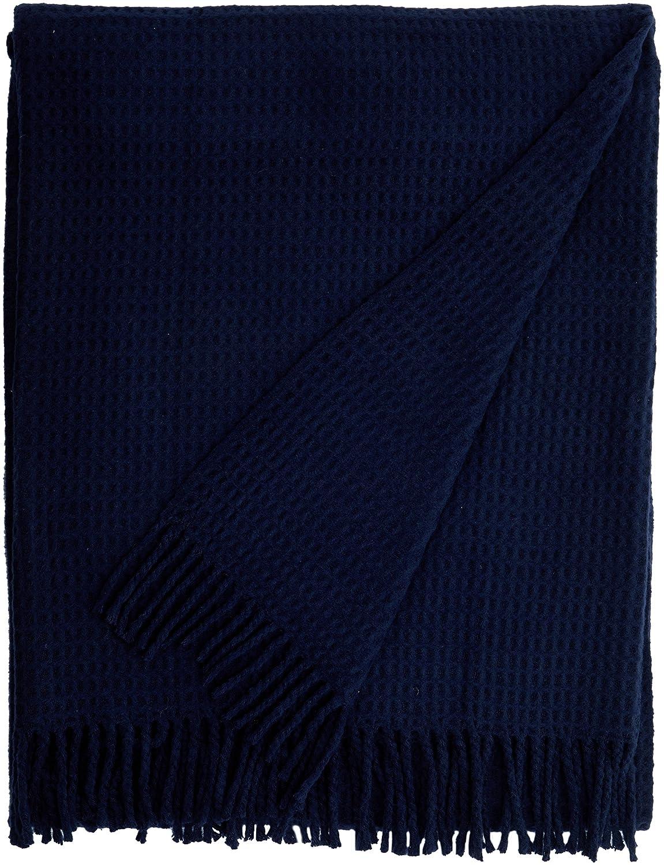 140/x 180/x 5/cm Cotton Navy Blue Single Euromant Basics Waffle Blanket