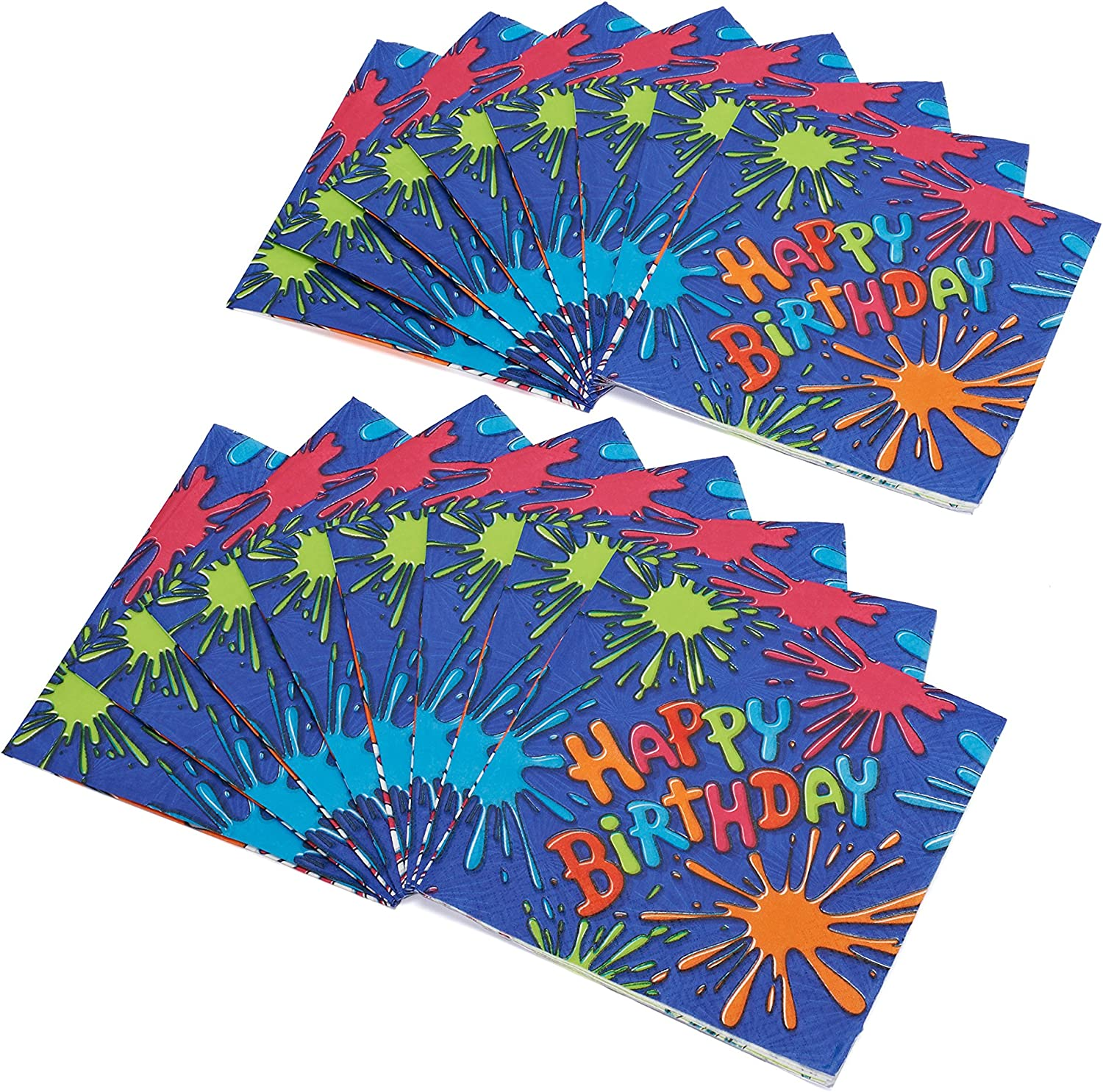 American Greetings Birthday Splat Lunch Napkins 16 Count Party Supplies Novelty