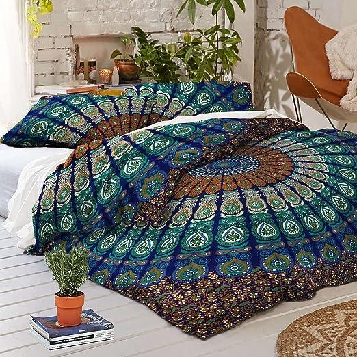 Indian Handmade Mandala Hippie Duvet Cover Blanket Ethnic Comforter Cover
