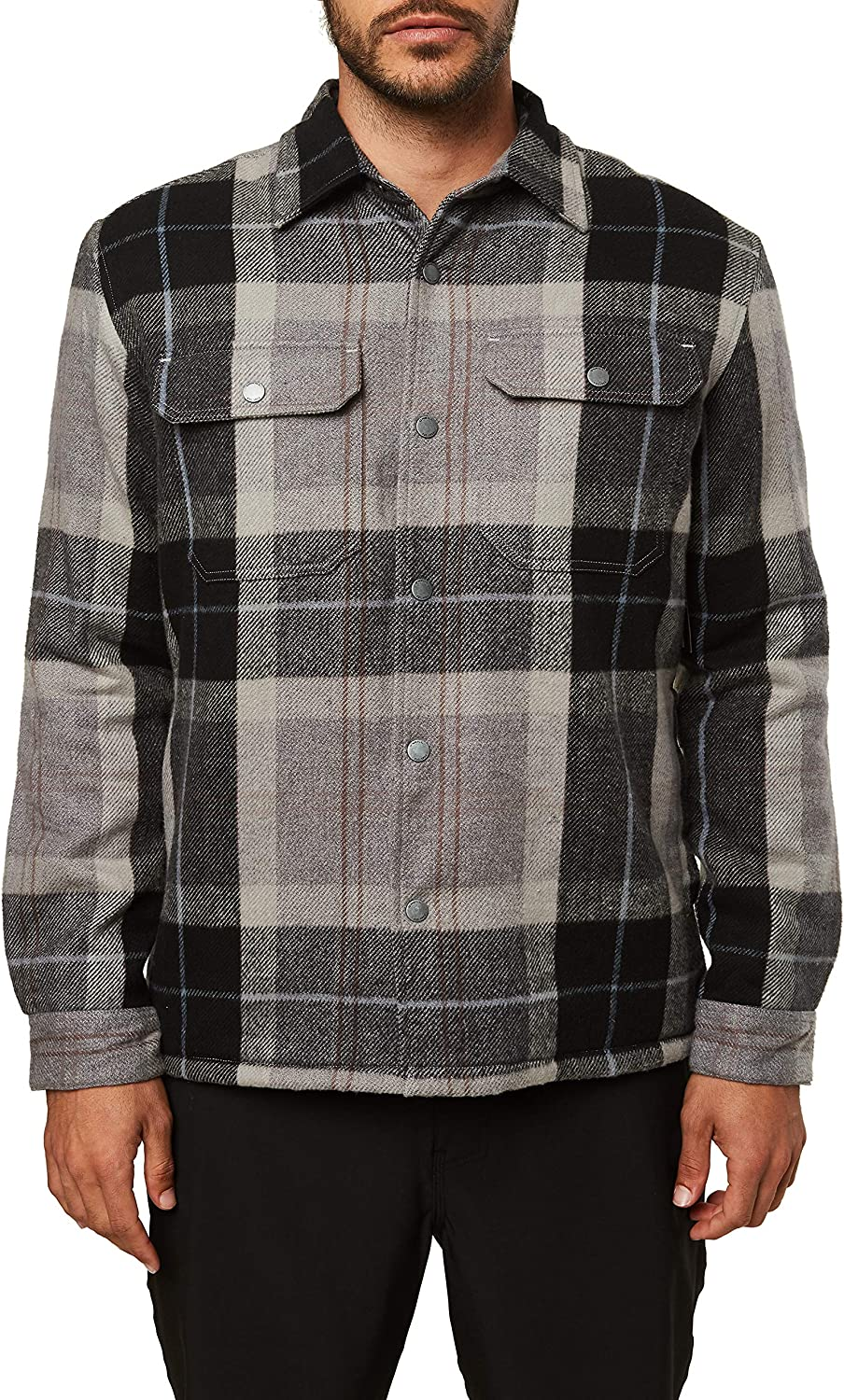 O'Neill Men's Heavy Weight Flannel Shirt Jacket: Clothing