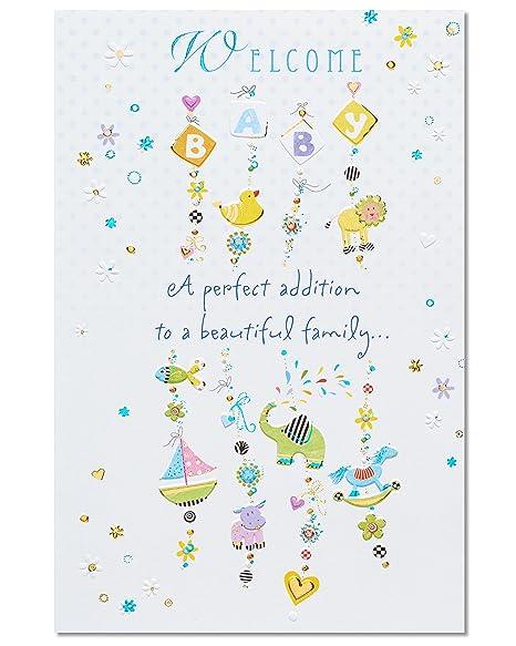 Amazon.com: Complemento Perfecto nuevo bebé Tarjeta de ...