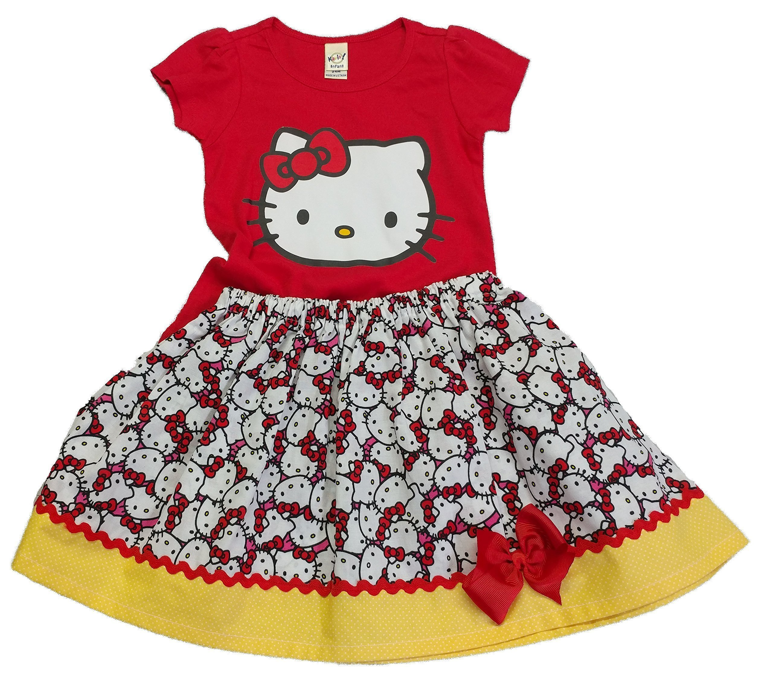Girl Hello Kitty outfit Girl outfit Girl Hello Kitty dress Girl skirt shirt Hello Kitty skirt shirt outfit