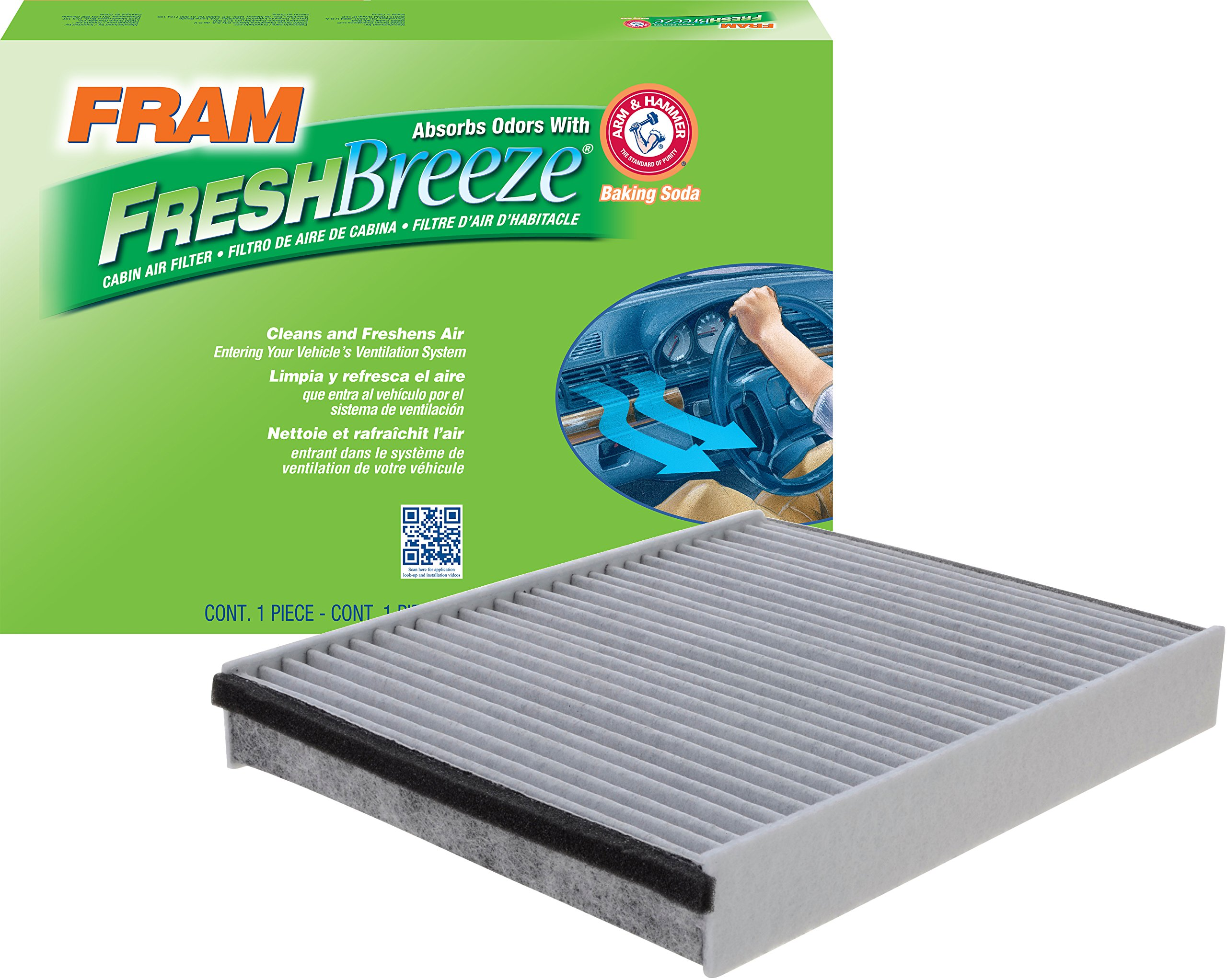 FRAM CF11920 Fresh Breeze Cabin Air Filter with Arm & Hammer
