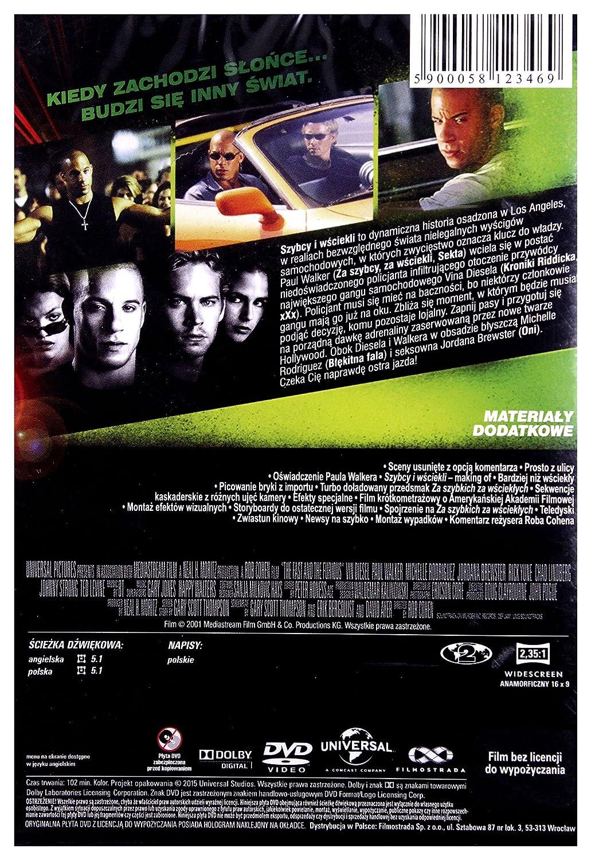 Fast and the Furious, The DVD IMPORT No hay versión española: Amazon.es: Paul Walker, Vin Diesel, Michelle Rodriguez, Jordana Brewster, Chad Lindberg, ...