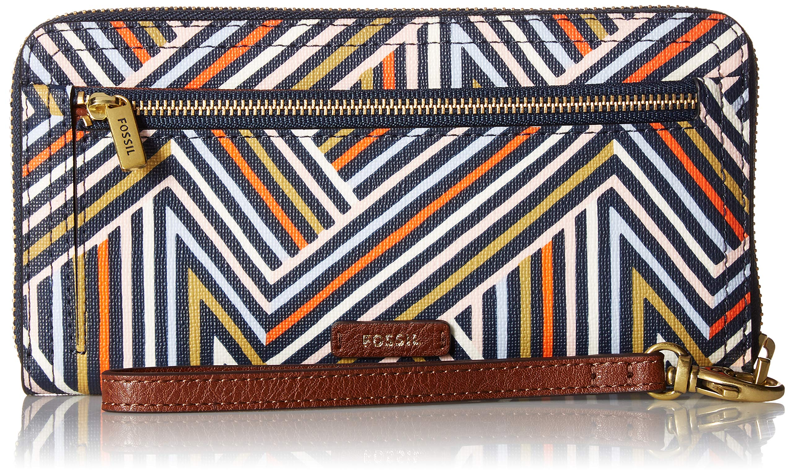 Fossil Logan RFID Zip Around Clutch Multi by Fossil (Image #1)