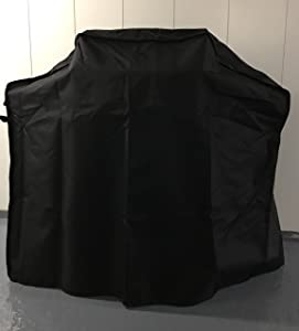 Comp Bind Technology Grill Cover for Weber Genesis II LX S-340 Gas Grill. Outdoor, Waterproof Black Grill Cover 59''W x 29''D x 48''H