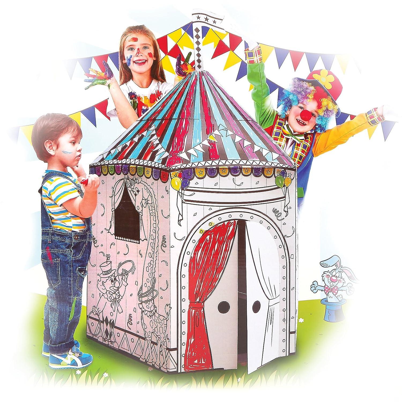 Amazon.com: My Circus Tent Cardboard Playhouse - Large Corrugated ...