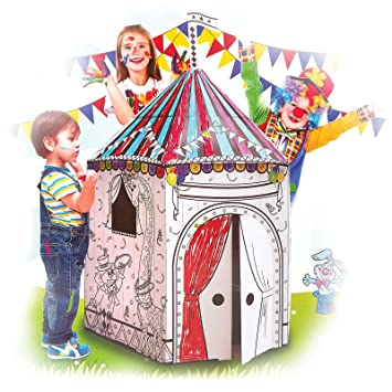 My Circus Tent Cardboard Playhouse - Large Corrugated Color In Coloring Play House for Kids -  sc 1 st  Amazon.com & Amazon.com: My Circus Tent Cardboard Playhouse - Large Corrugated ...