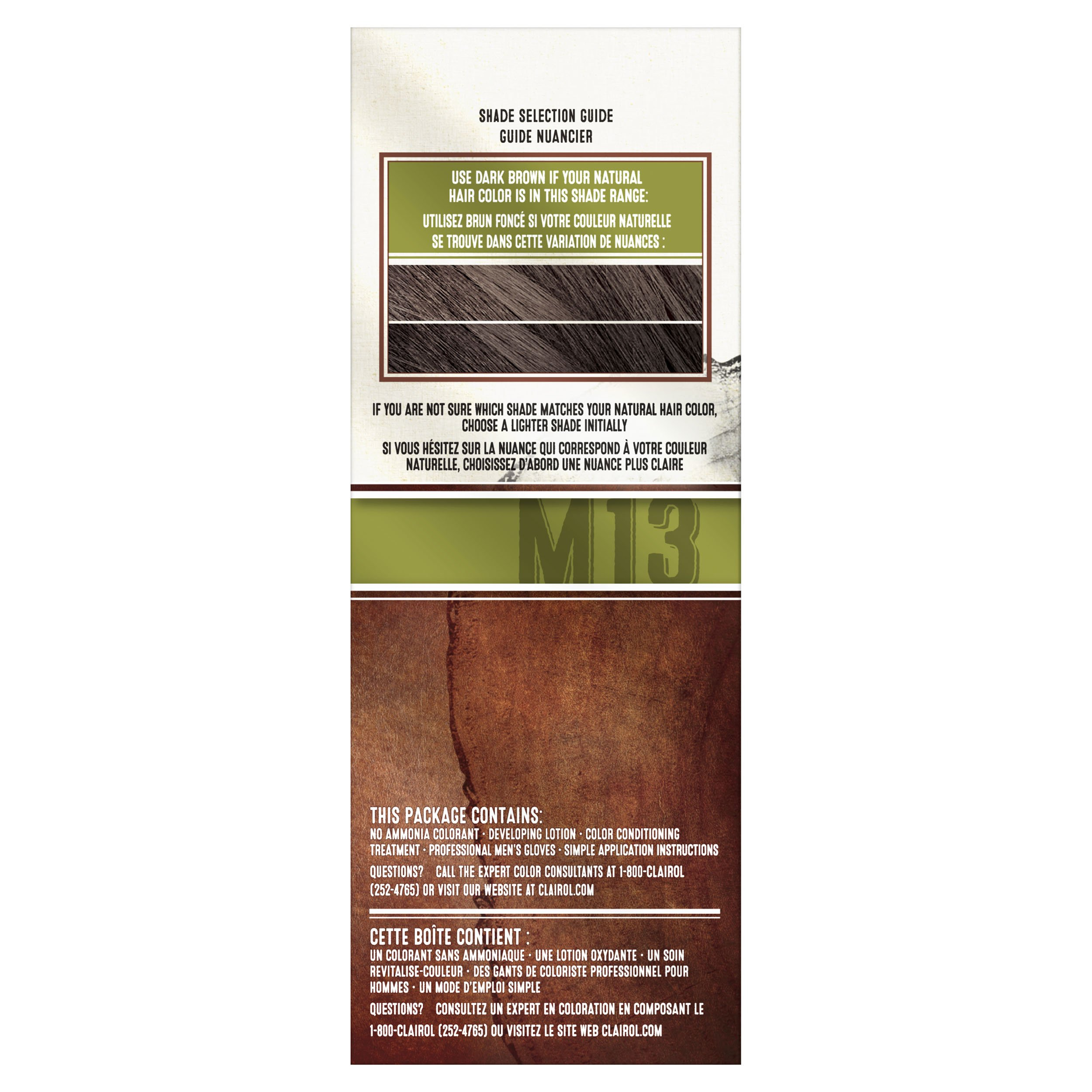 Clairol Natural Instincts Semi-Permanent Hair Color Kit For Men, 3 Pack, M13 Dark Brown Color, Ammonia Free, Long Lasting for 28 Shampoos by Clairol (Image #4)